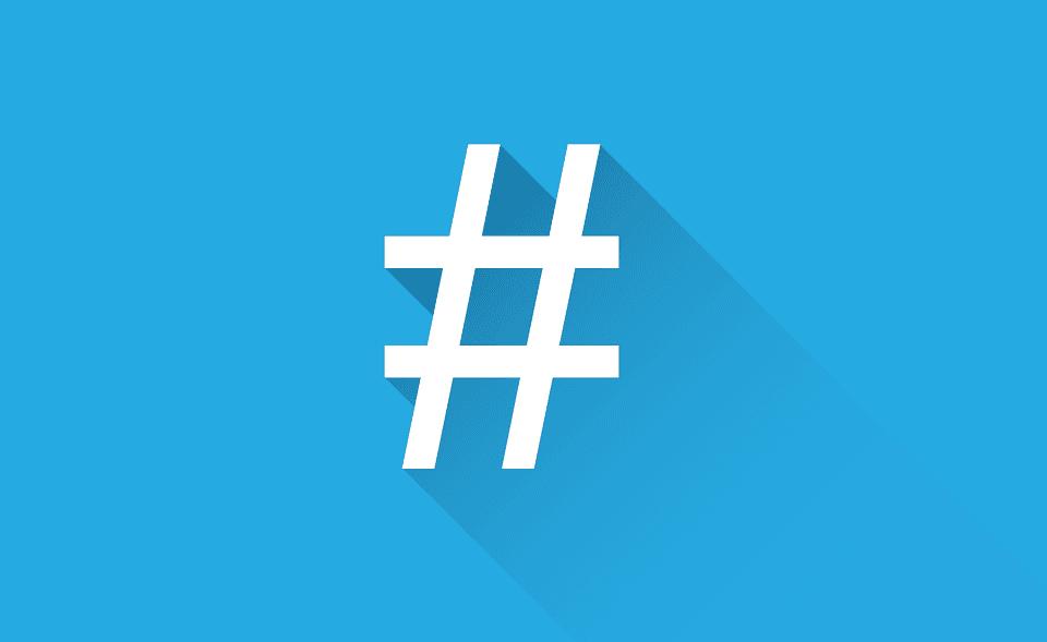 errores más comunes en Twitter hashtag