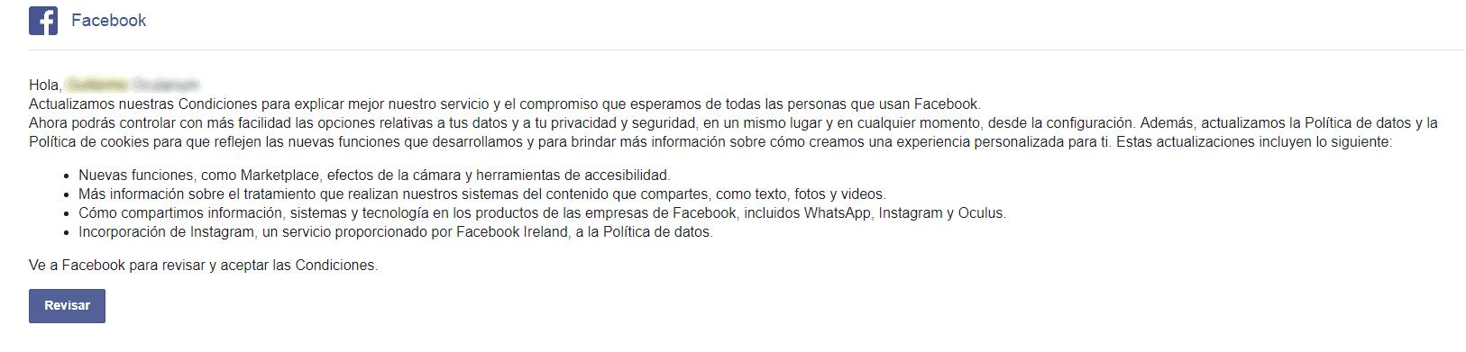 las nuevas reglas de privacidad de Facebook 1