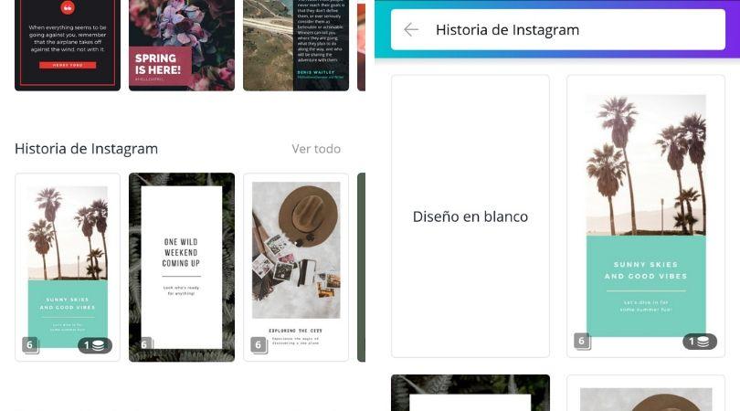 Las mejores aplicaciones para hacer Stories en Instagram canva