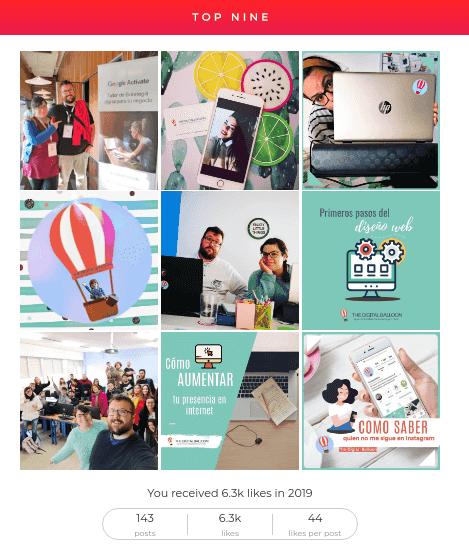 Cómo compartir tus mejores fotos del año en Instagram Top Nine 2019