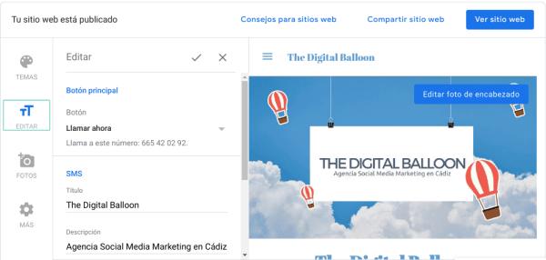 Como hacer una página web gratis con Google 03