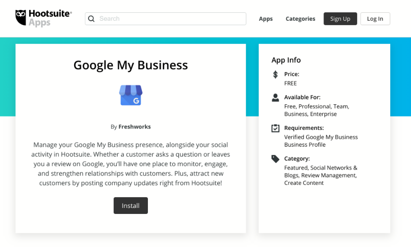 Gestionar Google My Business con Hootsuite