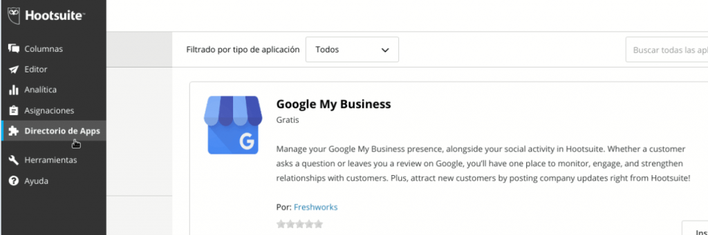 Tutorial programar Google My Business con Hootsuite 01