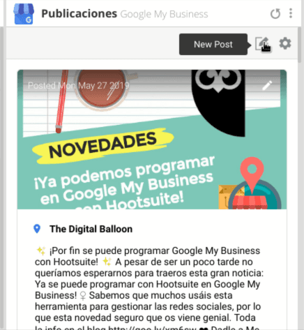 Tutorial programar Google My Business con Hootsuite 06