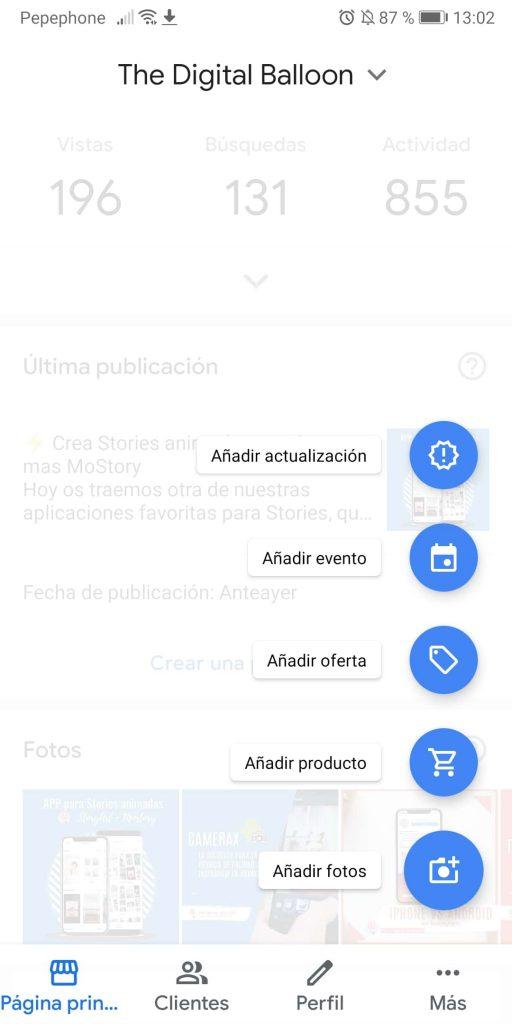 subir fotos a google my business smartphone 01