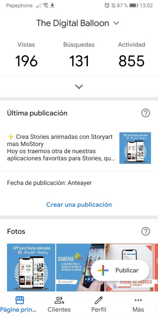 subir fotos a google my business smartphone 02