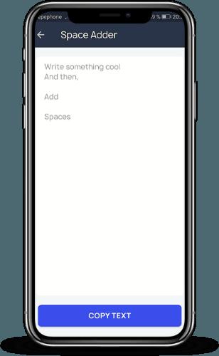 añadir espacios en los texto de Instagram Gbox 02