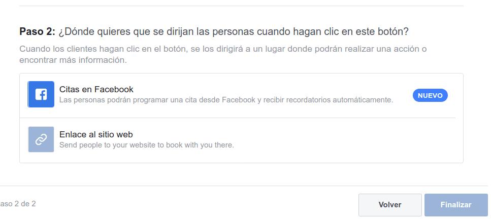 como activar las citas en una fanpage de Facebook 02
