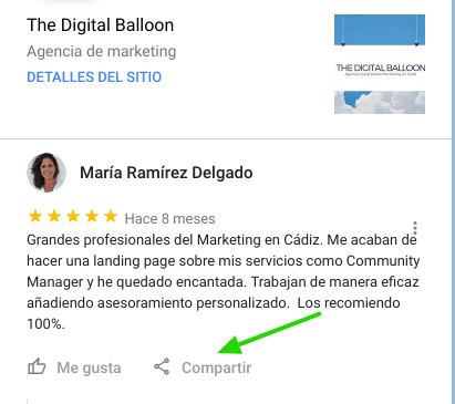 Como compartir reseñas de google my business 02